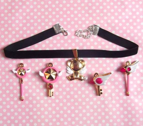 Cardcaptor Sakura Inspired Choker Velvet Necklace