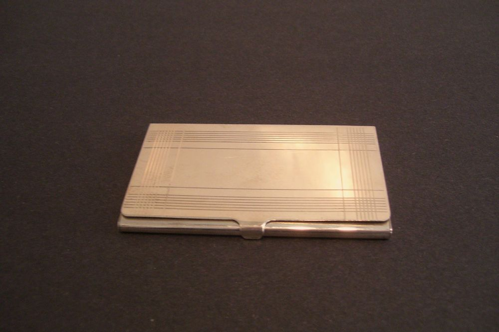Tiffany and Co Sterling 925 Business Card Case Holder 57 Grams ...