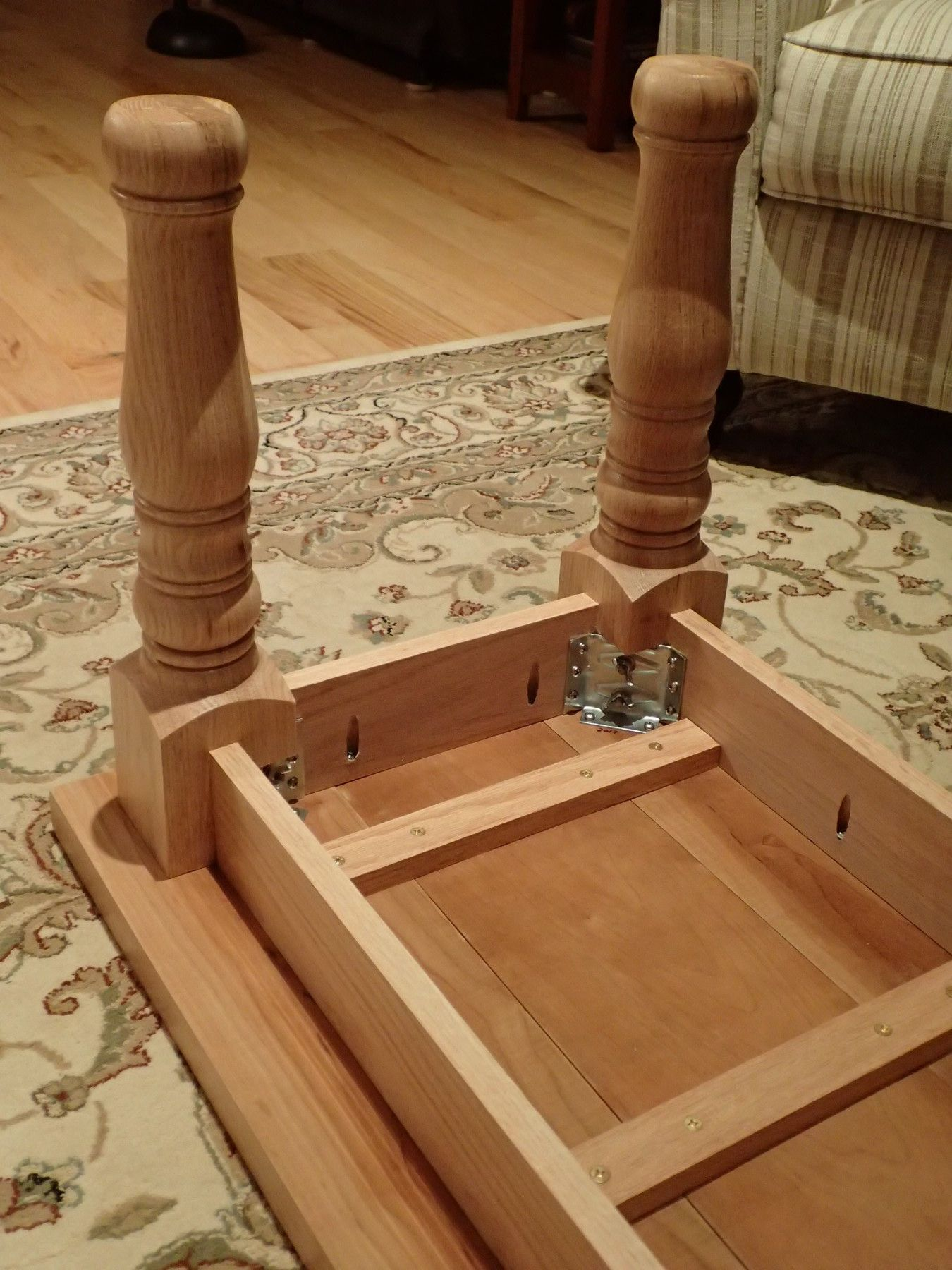 Coffee Table With Oak Legs Diy Kitchen Table Diy Farmhouse Table Build A Farmhouse Table