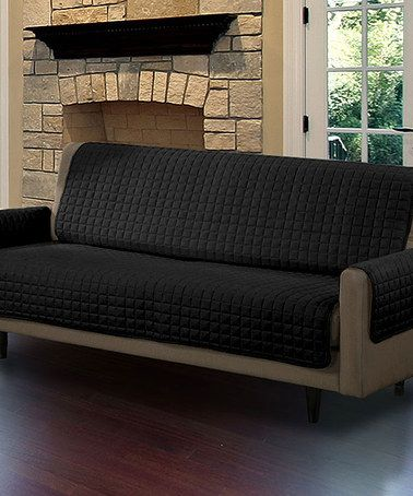 Sleeper Sofas Loving this Black Sofa Pet Protector Slip Cover on zulily zulilyfinds