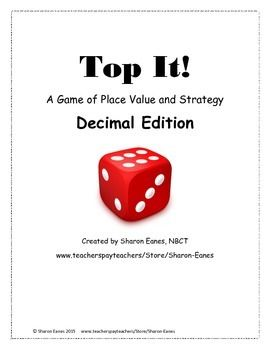 This cooperative game follows the same procedures and objectives as the original Place Value Top It!, game (also available in my store, but offers opportunity for students to practice reading and writing whole numbers and decimals to the thousandths place.