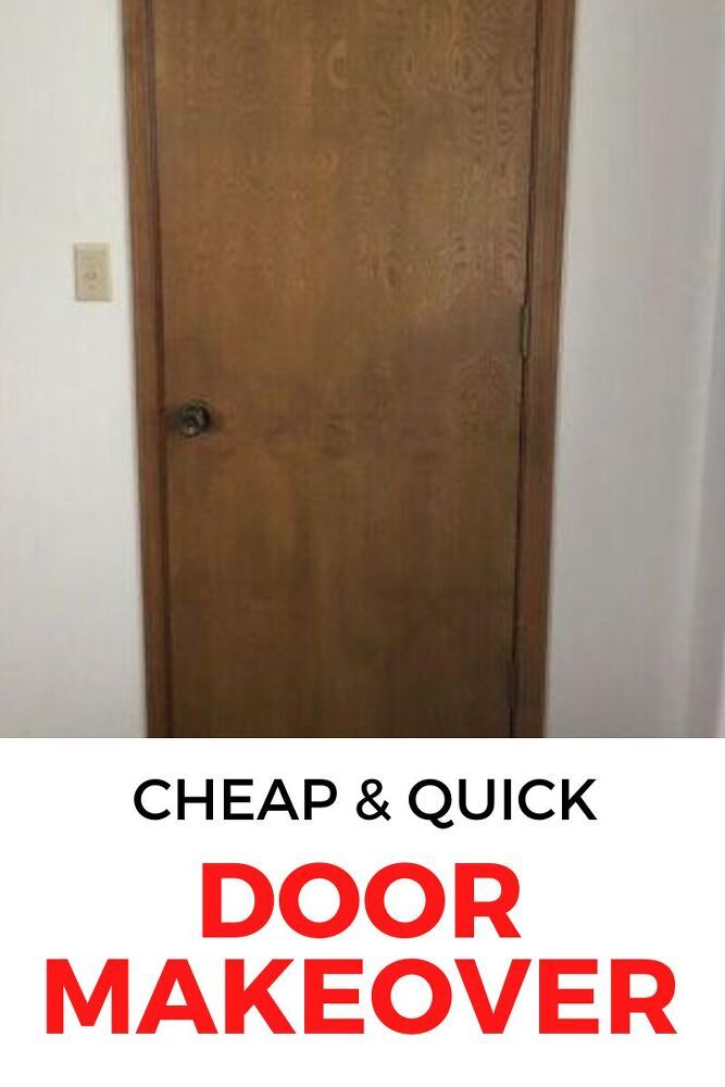 If you hate your indoor doors then check out this update on a budget. This $3 door upgrade is fast and perfect if you hate your old brown doors. #hometalk