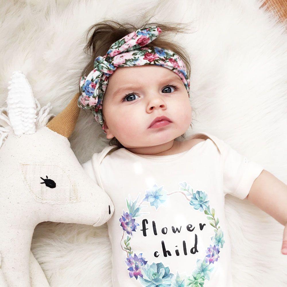 Infant Toddler KIds Elastic  Hairband Girls Knot Headwear Turban Baby Headband