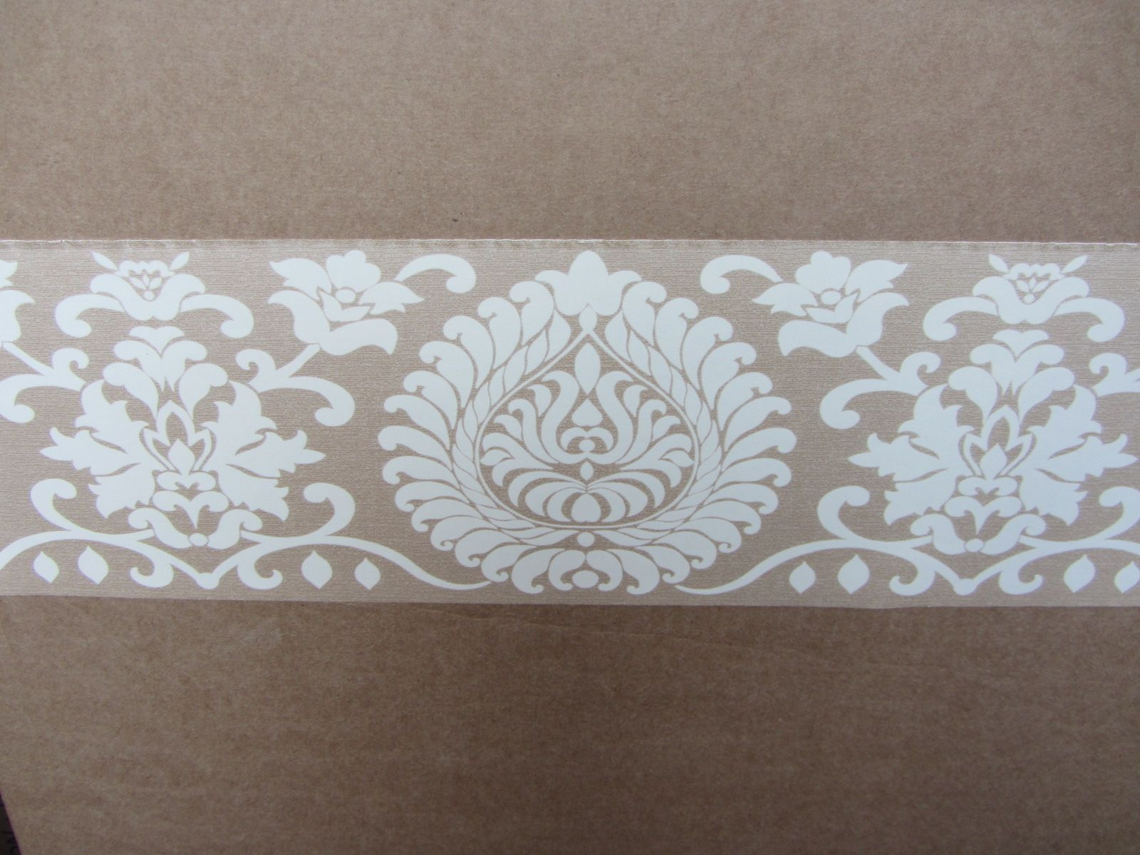 Gray And Cream Wallpaper Border Damask Beige Wallpaper Border