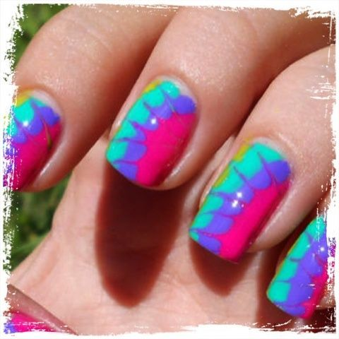 Learn How To Tie Dye Your Own Nails On Pose Hair Beauty That I