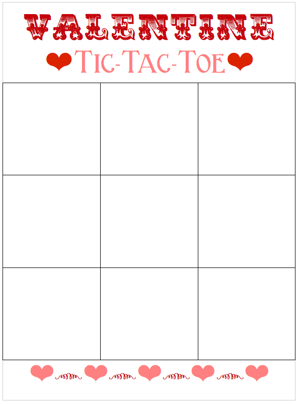 This is an image of Wild Free Printable Tic Tac Toe Board