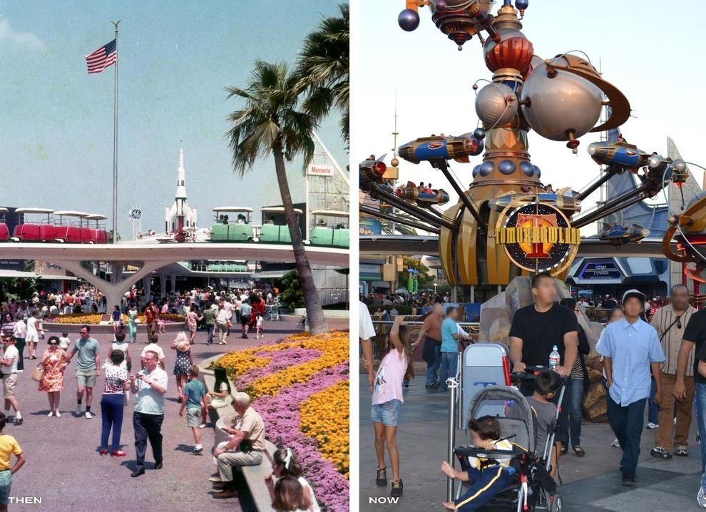 Then Vs Now Disneyland Disney Resorts Disneyland California