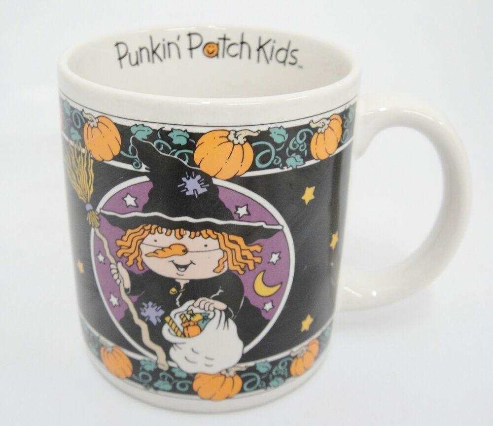 Hartstone Halloween Platter Witch Hats Spiders Candy Corn 1995 Stoneware 9x12