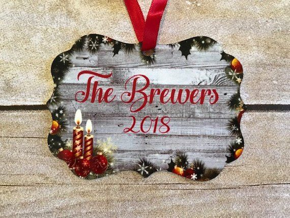 Personalized Family Ornament, Traditional Family Christmas Ornament