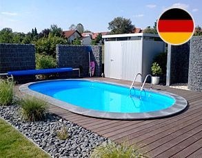 ovalbecken stahlwandpool 1,20 m tief made in germany | pool, Terrassen ideen