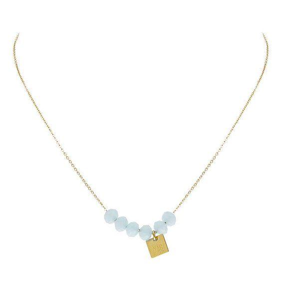 ZAG Bijoux Multicoloured stone necklace q4Qnp