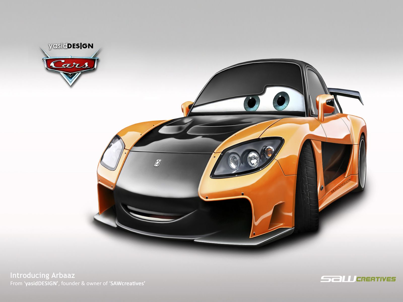 All Cars Characters | Disney Cars Mazda RX7 Veilside By Yasiddesign