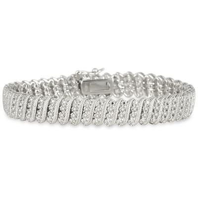 1 00 Carat Diamond Tennis Bracelet In 925 Sterling Silver Tennis Bracelet Diamond Tennis Bracelet Diamond