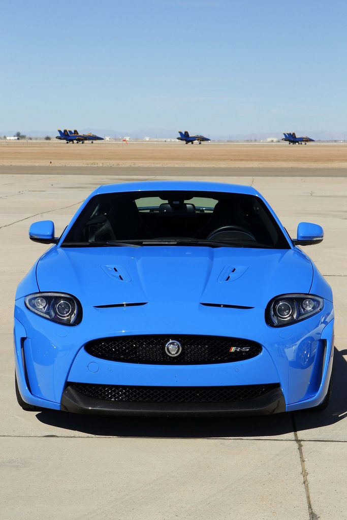 "Jaguar XKR-S...British... yes..... Prim and Proper and void of Personality?....NO! .. This little ""blue devil"" will run hard and wild....meet the new British!"