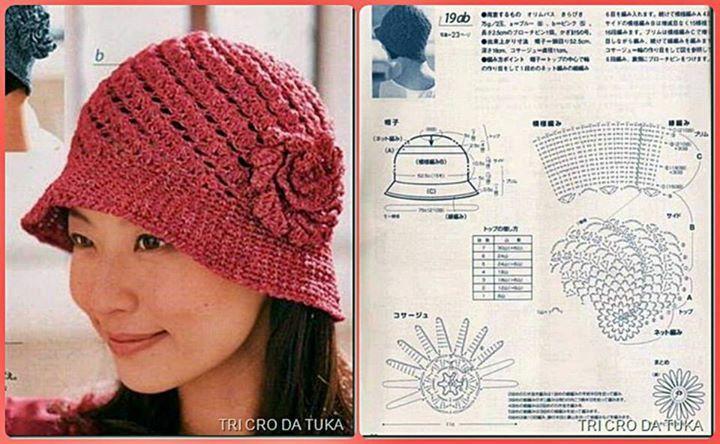 Berretto con schema (con immagini)   Uncinetto, Cappelli ...