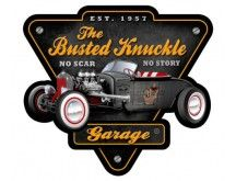 Busted Knuckle Sign - Rat Rod