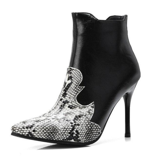 dec41b127d79 34-43 Extreme High Heel Women Winter Boots Heel 10 CM Ankle Boots For Women  Big Size Women Winter Shoes
