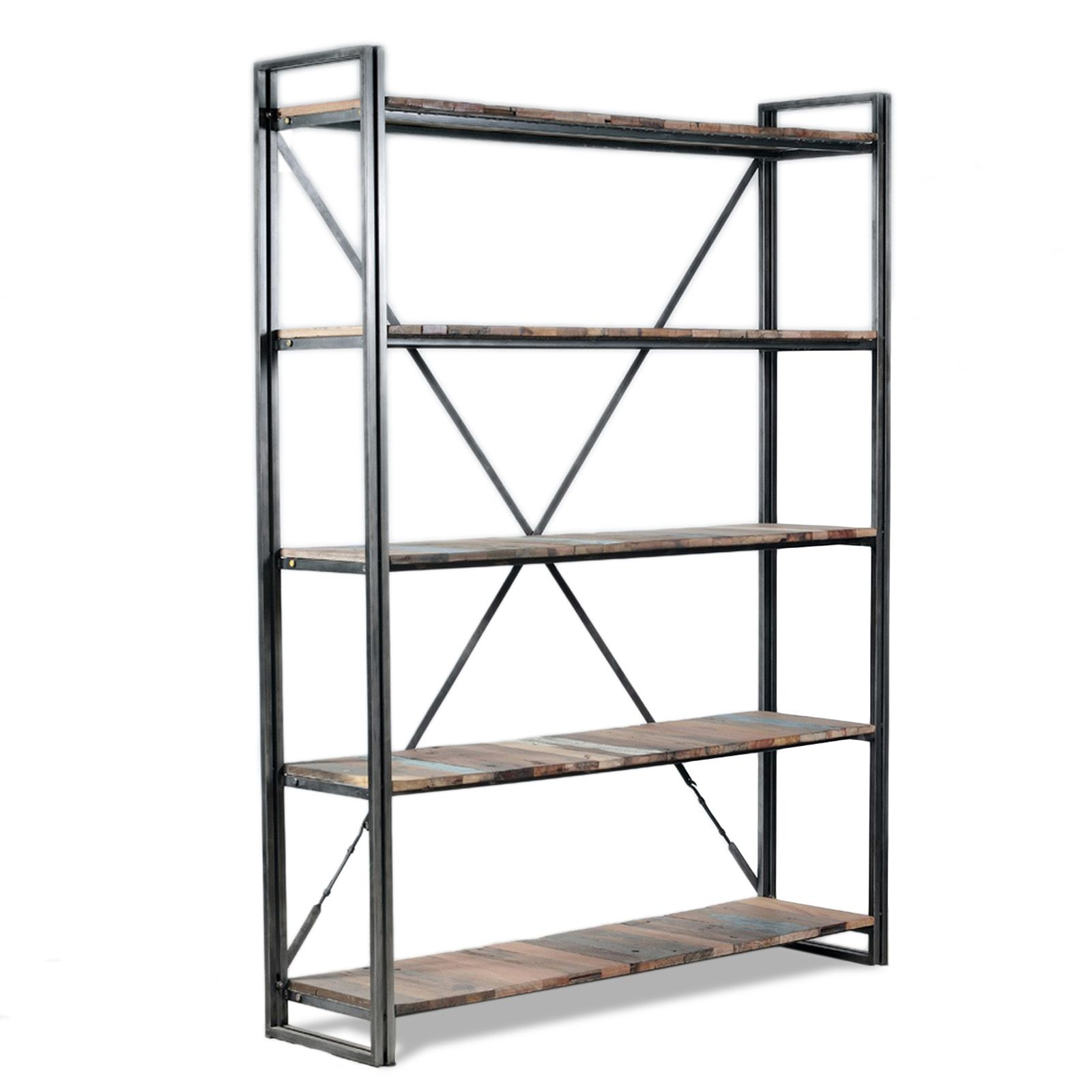 Meubles Industriels Biblioth Que 4 Tag Res Style Factory  # Meuble Palette Style Industriel