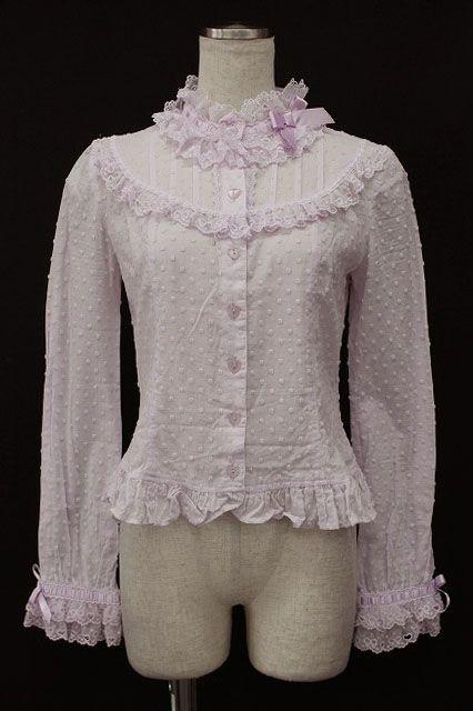 Elegant Angelic Pretty / Dot Ribbon Lace Blouse   Closet Child Online Shop