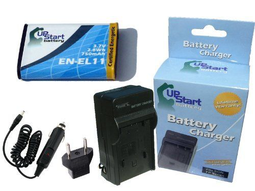Pentax Optio W80 Battery and Charger with Car Plug and EU Adapter - Replacement for Pentax D-LI78 Digital Camera Batteries and Chargers (750mAh, 3.7V, Lithium-Ion)