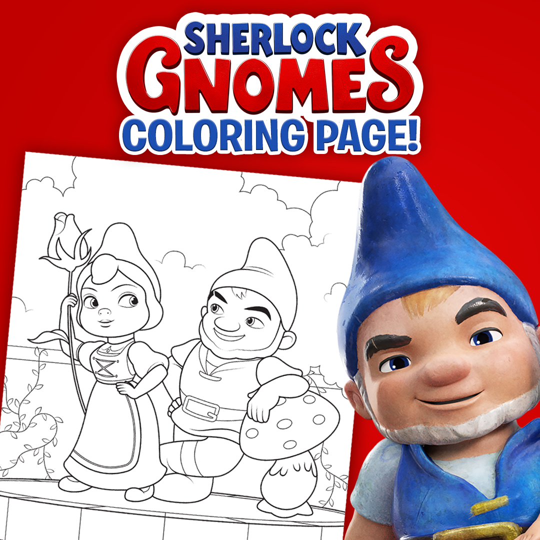 Click To Download This Sherlockgnomes Coloring Page Featuring Gnomeo And Juliet