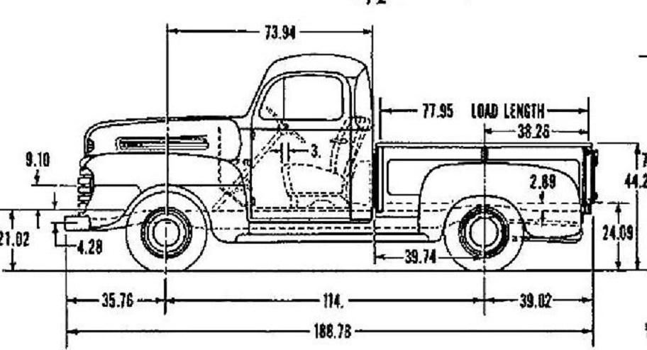 49 52 Ford F1 Truck Dimensions The H A M B Ford Truck Models