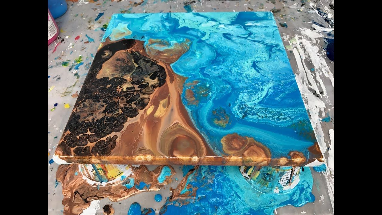 Acrylic Pour Painting Double Flip Cup Summer Days
