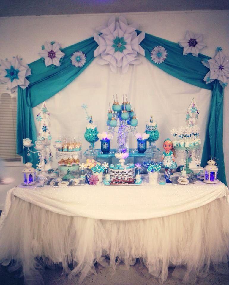 Frozen Candy Buffet Frozen Party Frozen Candy Buffet Frozen Theme Party
