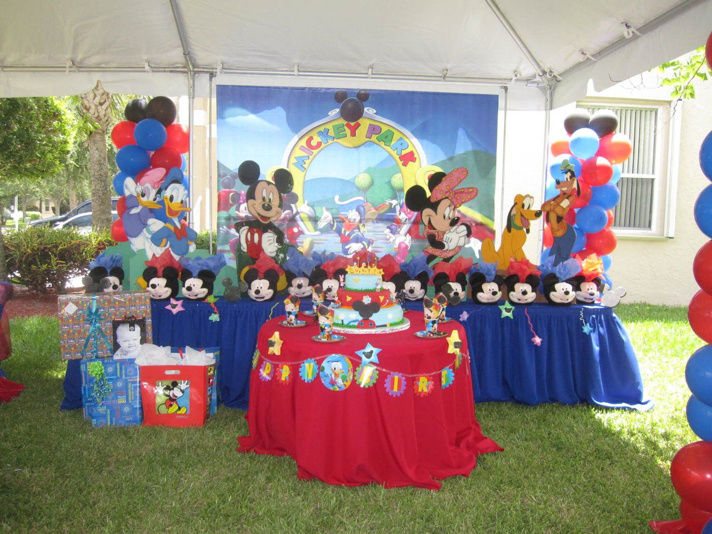 Mesas Decoradas De Mickey Mouse Imagui Fiestas Mickey