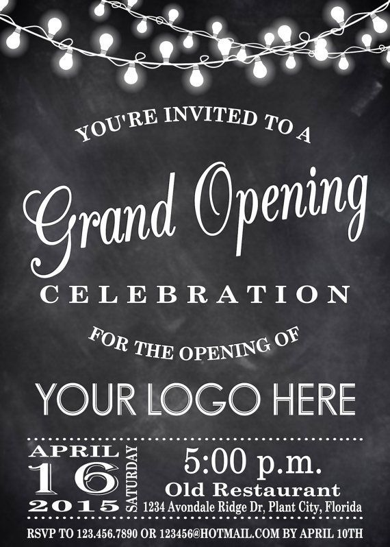 Renee Pulve - Grand Opening - invite and ecard design- we like the - best of formal invitation for opening ceremony