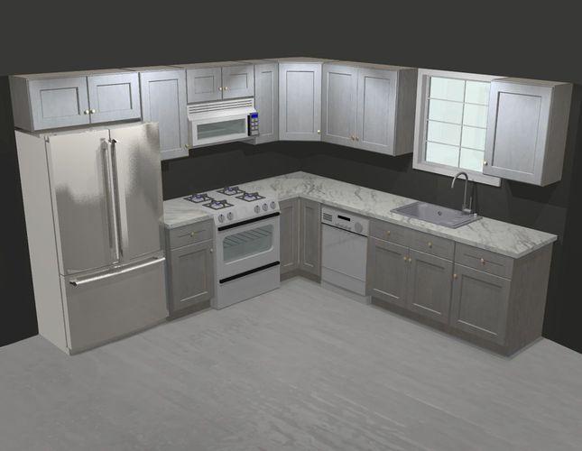 Best Forevermark Tsg Nova Light Grey Shaker 10X10 Kitchen 640 x 480