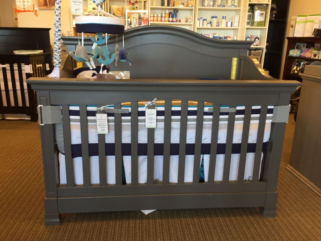 million dollar baby louis 4 in 1 convertible crib in manor grey also available in