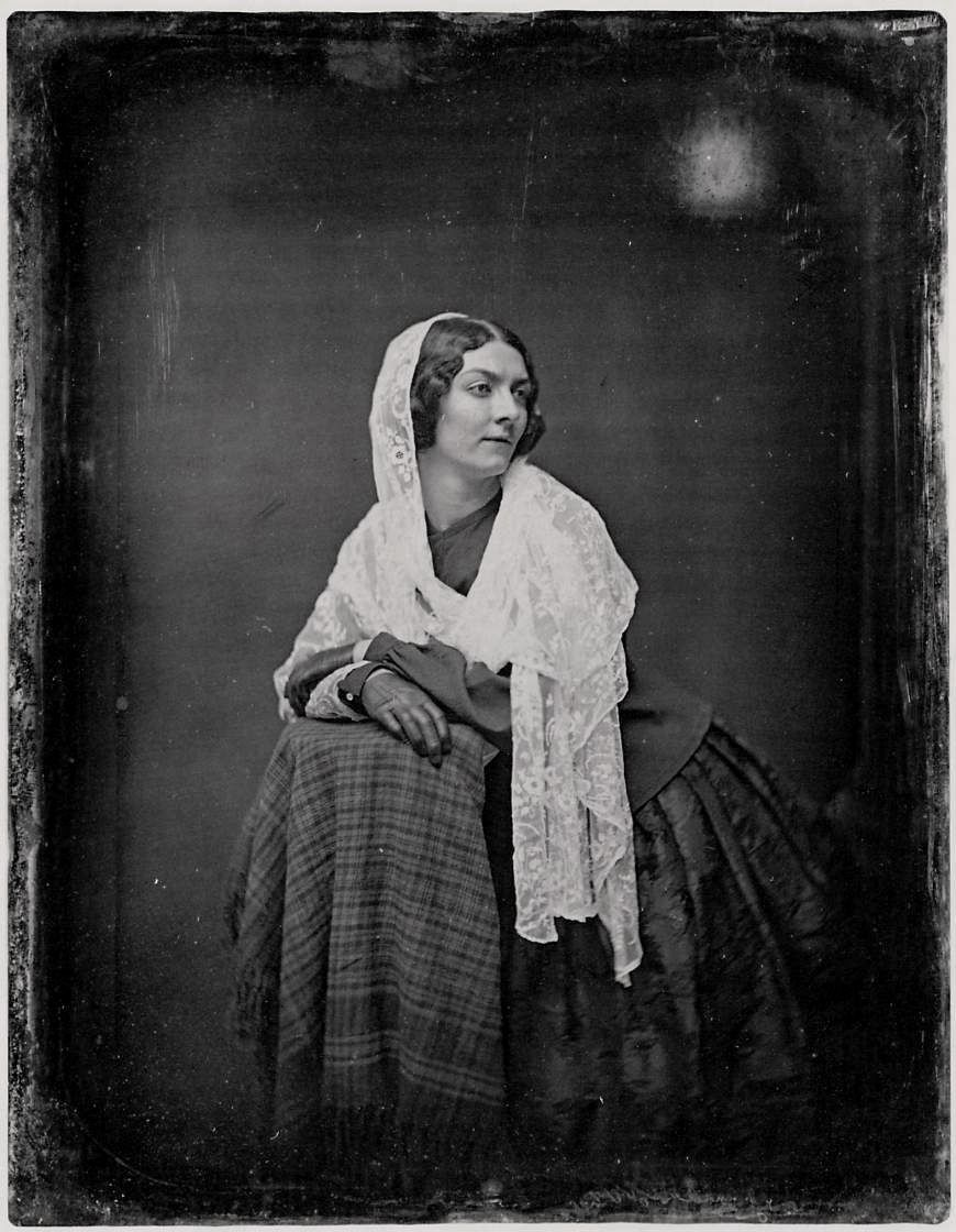 """Marie Dolores Eliza Rosanna Gilbert, Countess of Landsfeld (1821-1861), better known by the stage name Lola Montez, was an Irish dancer and actress who became famous as a """"Spanish dancer"""", courtesan, mistress of King Ludwig I of Bavaria, who made her Countess of Landsfeld, this photo was taken in 1851."""