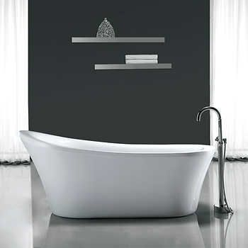 ove natalie freestanding tub with athena faucet costco   dream home
