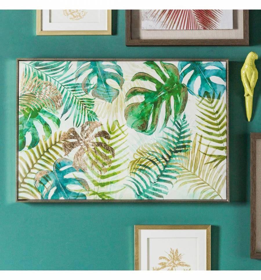 Green Tropical Palms Framed Art 93x63cm Wall Art Prints Wall Art Framed Wall Art