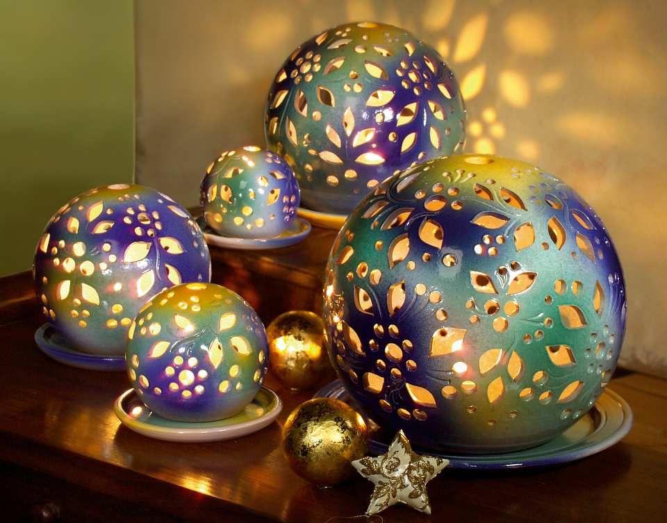 lichtkugeln bunt keramik bullen pinterest keramik. Black Bedroom Furniture Sets. Home Design Ideas