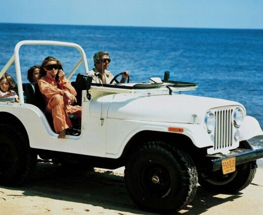 Ralph Lauren Ricki And Kids In A Vintage Jeep On The Beach