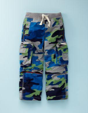 b62ba3fd3 mini boden boys bright blue camo zip off cargos | kids fashions ...