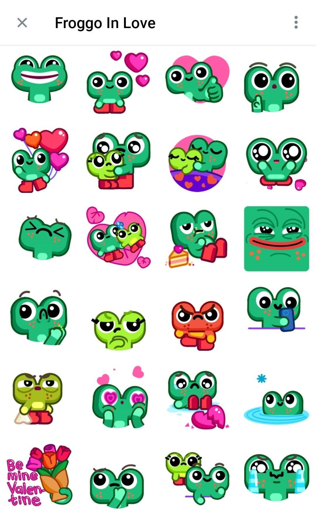 Frogoo In love Telegram Animated stickers in 2020