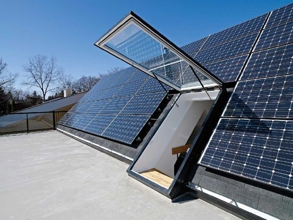 Roof Hatch For Sloped Roof Modern Roof Access Hatches Solar Panels Best Solar Panels Solar House