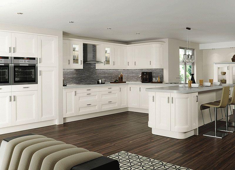 Contemporary White Shaker Kitchen light grey shaker kitchens - google search   kitchen   pinterest