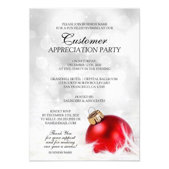 elegant holiday customer appreciation party invite
