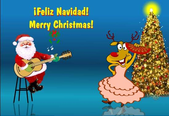 Feliznavidad Fellas Wish Your Spanish Friends Merrychristmas In Their Style With This Ecard Christmasa Spanish Christmas Christmas Dance Christmas World