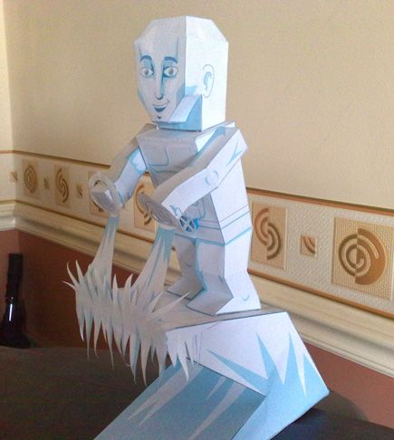 My Paper Heroes: Iceman | Heroes | Paper crafts, Paper toys