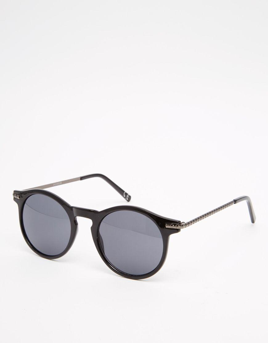 076301062c Metal Negras Metalizadas De Y Gafas Sol Redondas Patillas Con rdCxBeo