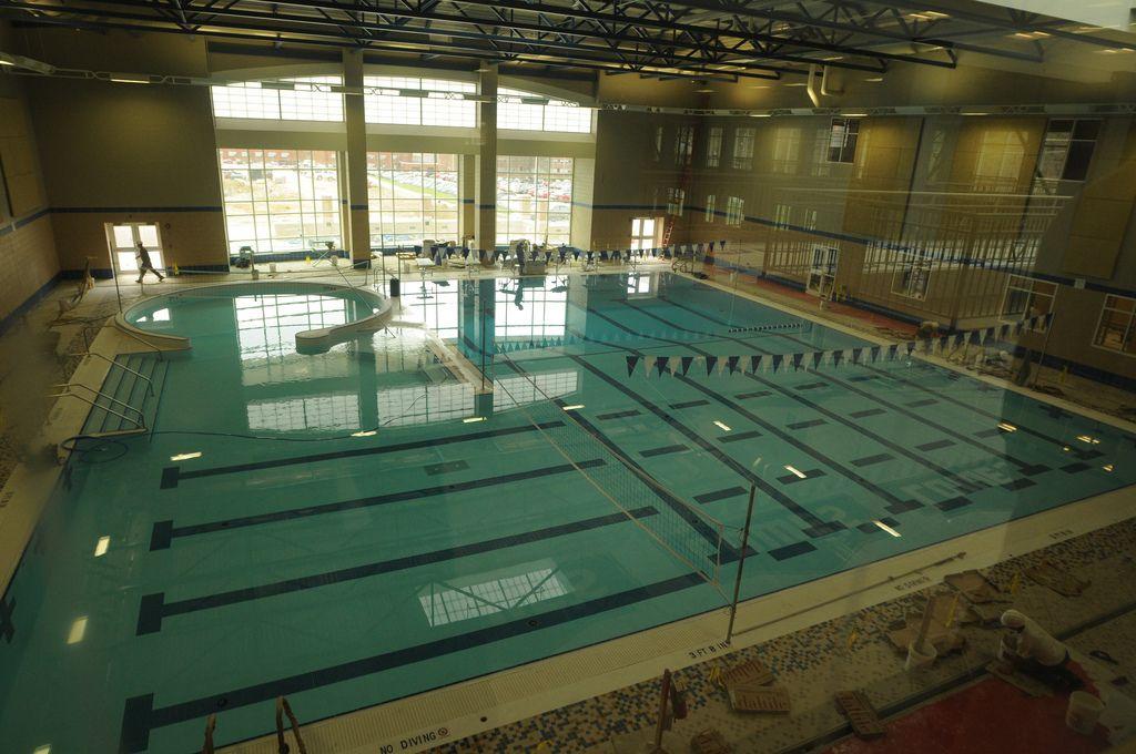 Natatorium inside the recreation and wellness center