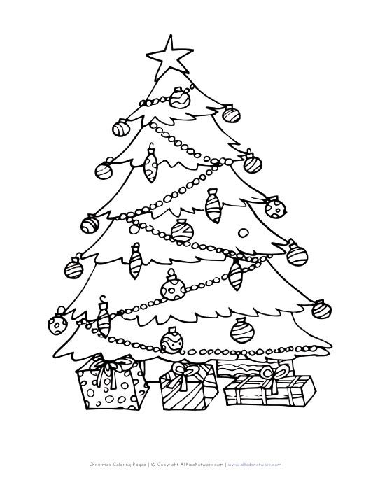 christmas tree coloring page | Kids things | Pinterest