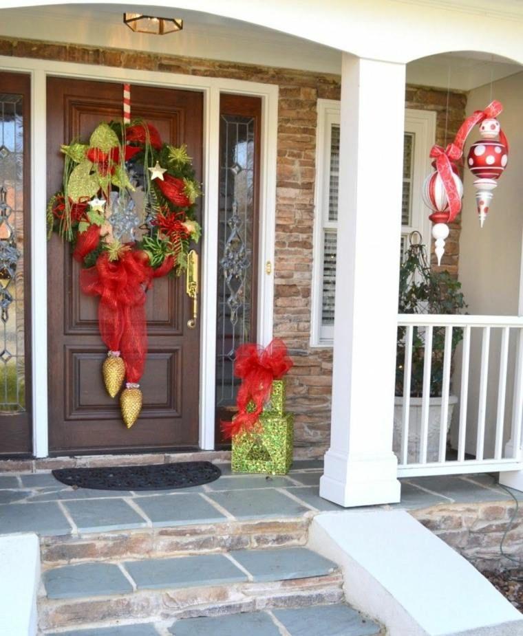 50 idées de décoration de porte d'entrée de Noël | Decoration de noel interieur, Idée de ...