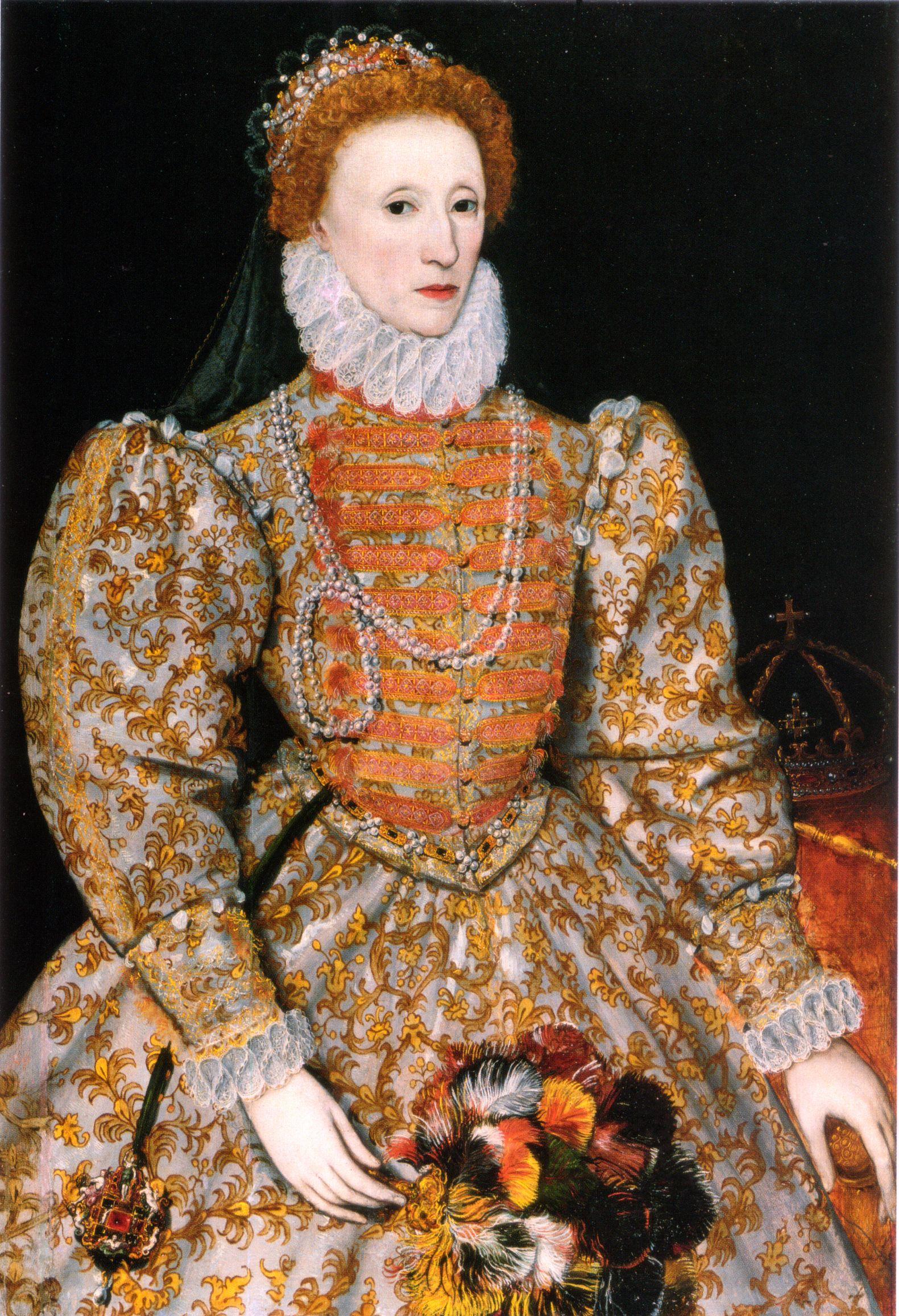 Elizabeth I of England (r. 15581603), the daughter of