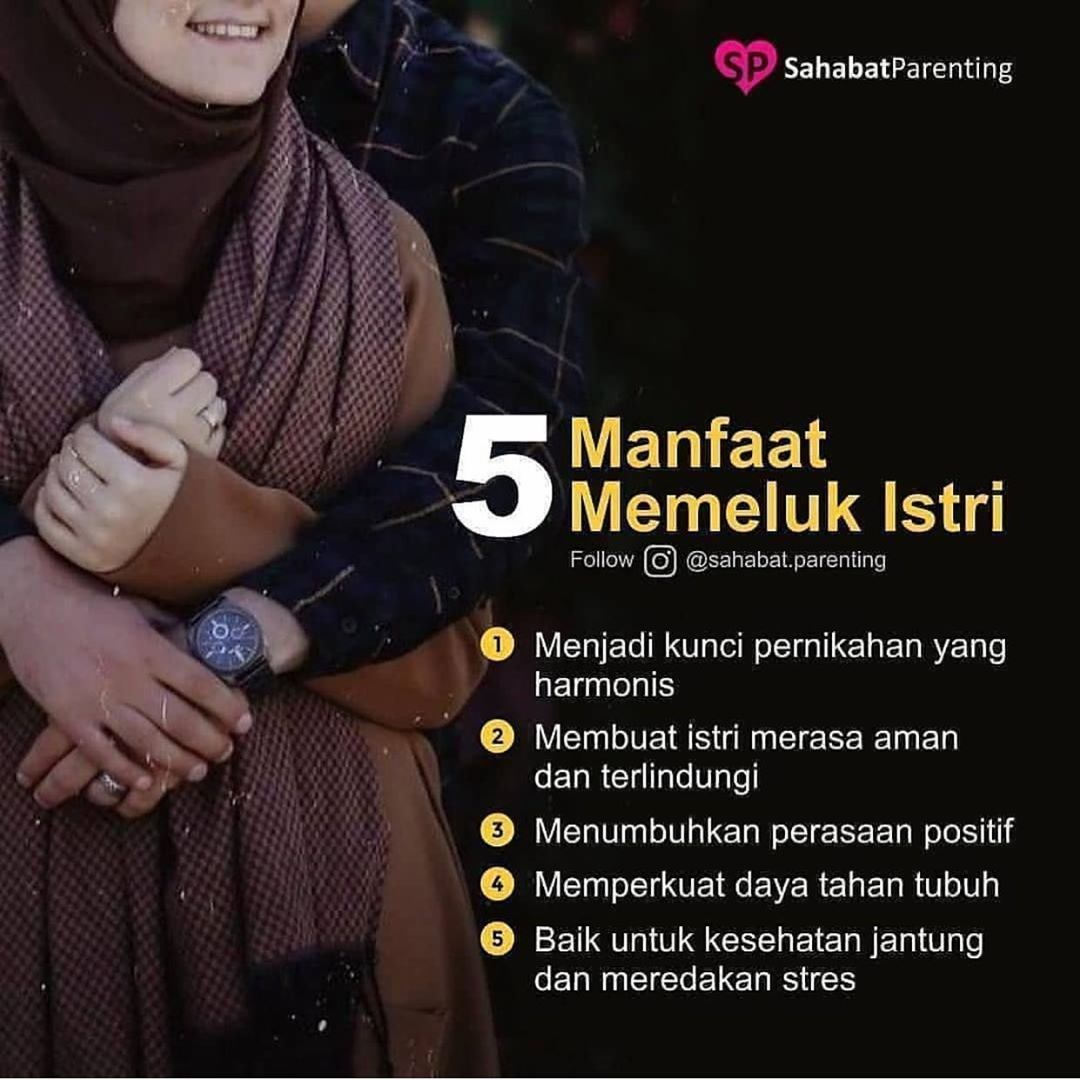 Suami Istri Bahagia On Instagram 5 Manfaat Memeluk Istri 1 Menjadi Kunci Pernikahan Yang Harmonis Be Kutipan Pernikahan Kata Kata Indah Kutipan Suami